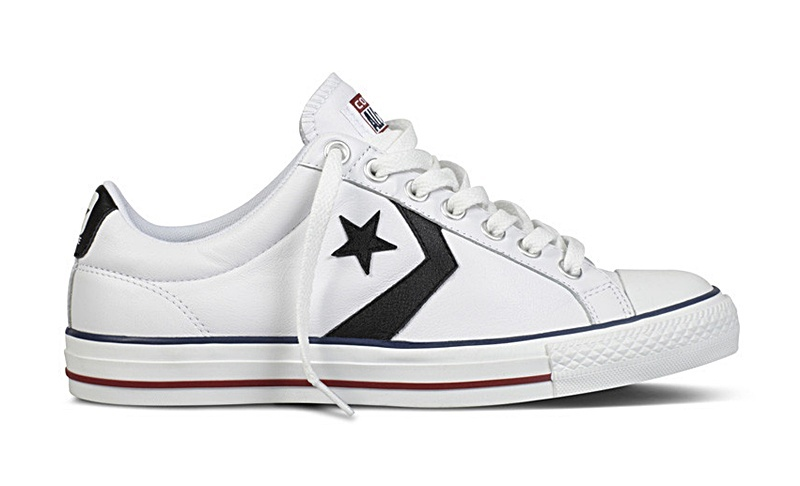 converse all star blanco piel