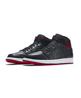 """Air Jordan 1 Mid """"Lance Mountain Bred"""" (028/black/white/red)"""