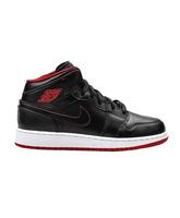 """Air Jordan 1 Mid Bg Niño """"Night"""" (028/negro/rojo/blanco)"""