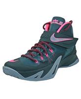 "Nike Zoom LeBron Soldier VIII ""Hyperpunch"" (363/verdebotella/fuxia)"