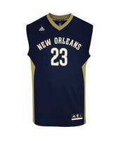 Adidas Camiseta Réplica Anthony Davis Pelicans (marino/camel/blanco)