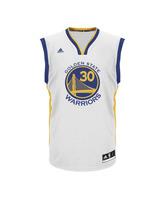 Adidas Camiseta Réplica Stephen Curry Warriors (blanco/azul/amarillo)