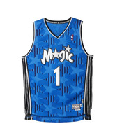 Adidas Camiseta Swingman Tracy McGrady Orlando Magic (azul/negro/blanco)