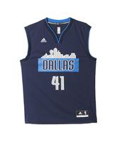 Adidas Camiseta Réplica Dirt Nowitzki Dallas Mavericks (navy/gris)