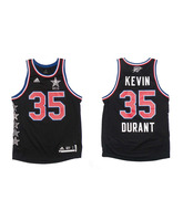 Camiseta Réplica Kevin Durant All Star West NYC 15 (negro/rojo/blanco)