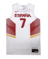 Camiseta Réplica Navarro #7# España 2014 (101/blanco/rojo)