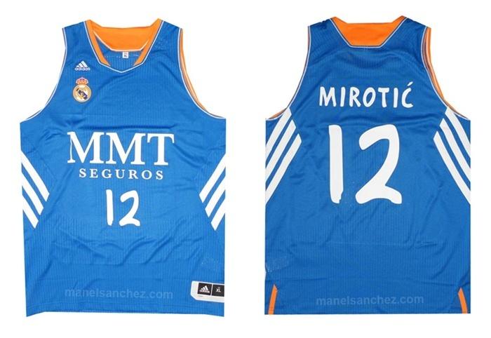 Camiseta Mirotic Real Madrid Basket 13/14 (azul/blanco)