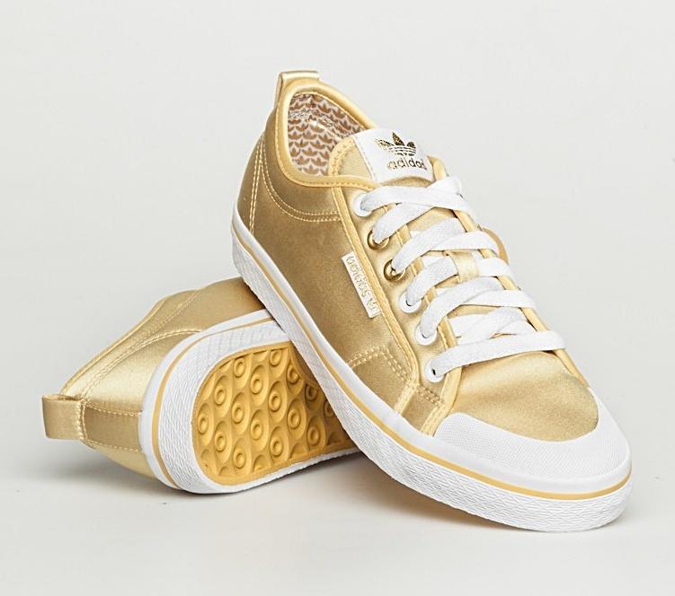 adidas mujer doradas