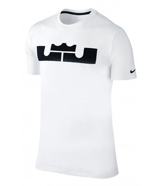 Camiseta LeBron Dri-FIT New Logo (102 blanco negro) 93fd1a91a32