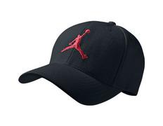Gorra Jordan Stretch Pique (010 negro rojo) 642be959f4e