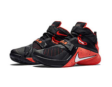nike zoom lebron soldier 9 premium bright crimson (negro blanco bright