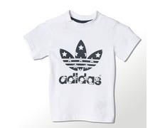 9861e0026 Adidas Originals Camiseta Infantil Trefstar (blanco negro)