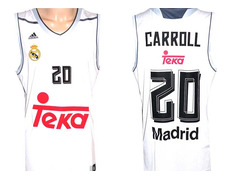 d645e0e45692f Camiseta Carroll  20  Real Madrid Basket 2015-2016 (blanco gris)