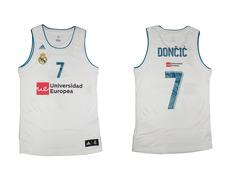 Camiseta Réplica Luka Doncic #7# R. Madrid 2017/18 (1ª Equipación)