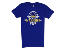 brand new 92054 753f5 New Era NBA League Net Golden State Warriors Logo Tee
