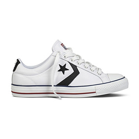 zapatillas converse star player ev ox jr blancas piel