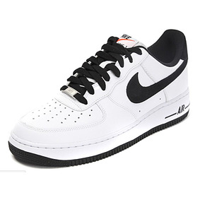 finest selection 05275 b6e37 negro nike air Force Ones swoosh azul .
