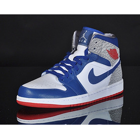 air jordan azul con blanco