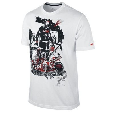 buy popular dacaf 5eca6 Camiseta LeBron Game Over (100blanco)