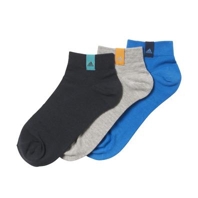 Agarrar Dar permiso Nueve  Adidas Calcetines 3 pares Cortos Performance (azul/gris)