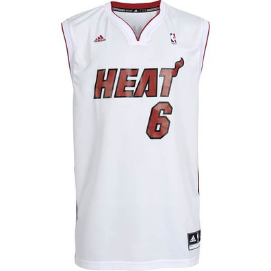 adidas camiseta r plica lebron james miami blanco. Black Bedroom Furniture Sets. Home Design Ideas