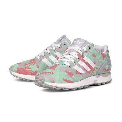 best sneakers 64b47 d6fa9 ... official store adidas originals zx flux w tropical palm tree gris coral  verde 166bd cbe45