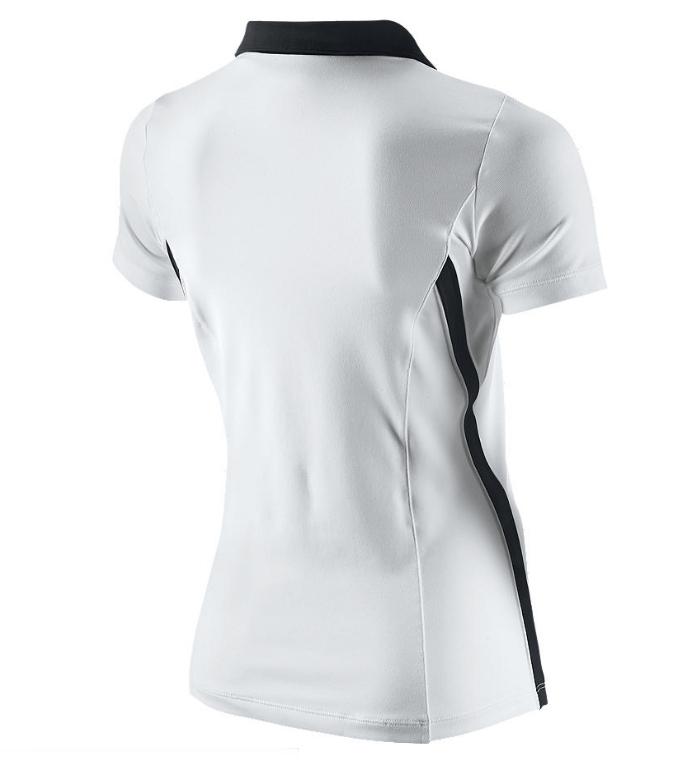 Nike Polo Mujer Tenis Backhand (blanco negro) 41300f04e22c0