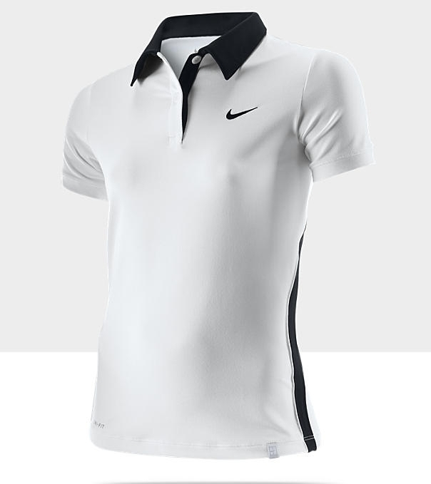 Polo Nike blanconegro Mujer Backhand Tenis AOOpzq
