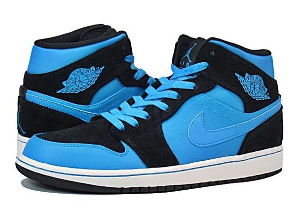 jordan azules con negro