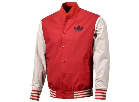 adidas chaqueta roja hombre