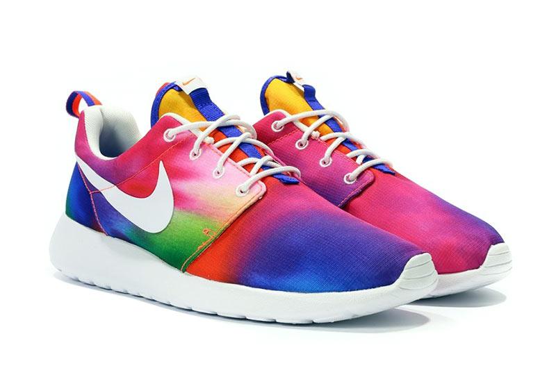 separation shoes b3aad a139e Nike Roshe One Print (518 purple blanco crimson)