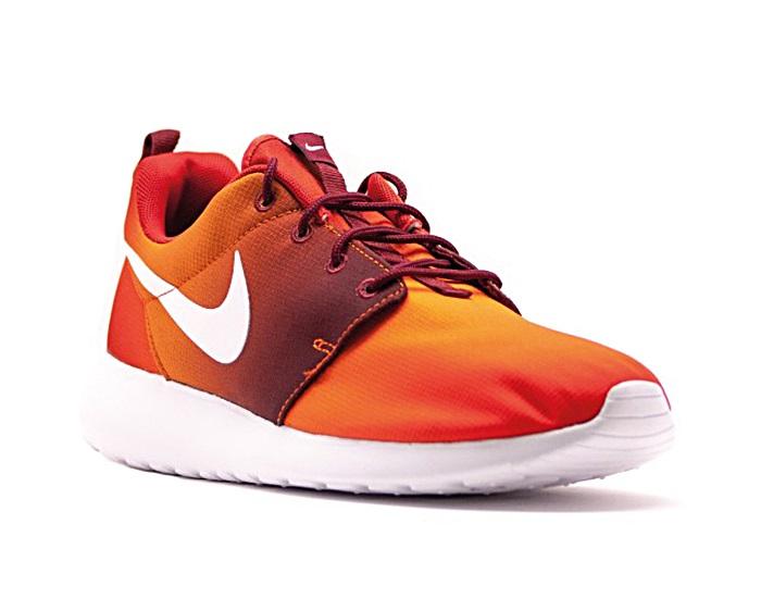 meet ed8a4 c7fcb Nike Roshe One Print (816 team orange blanco burdeos)