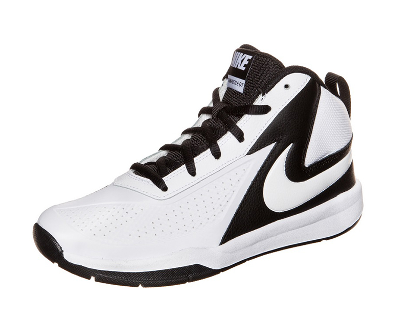 on sale 0cfc5 f4a41 Nike Team Hustle D 7(PS) Niñ  (101 blanco negro