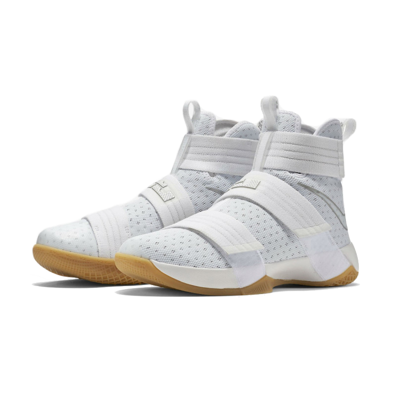 lebron soldier 10 sfg steed (101 white metallic silver white
