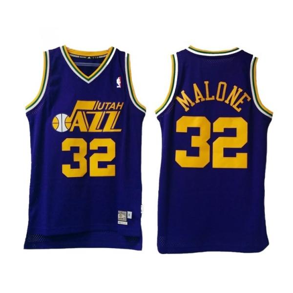 Adidas Camiseta Swingman Karl Malone Utah Jazz (purpuraamarillo