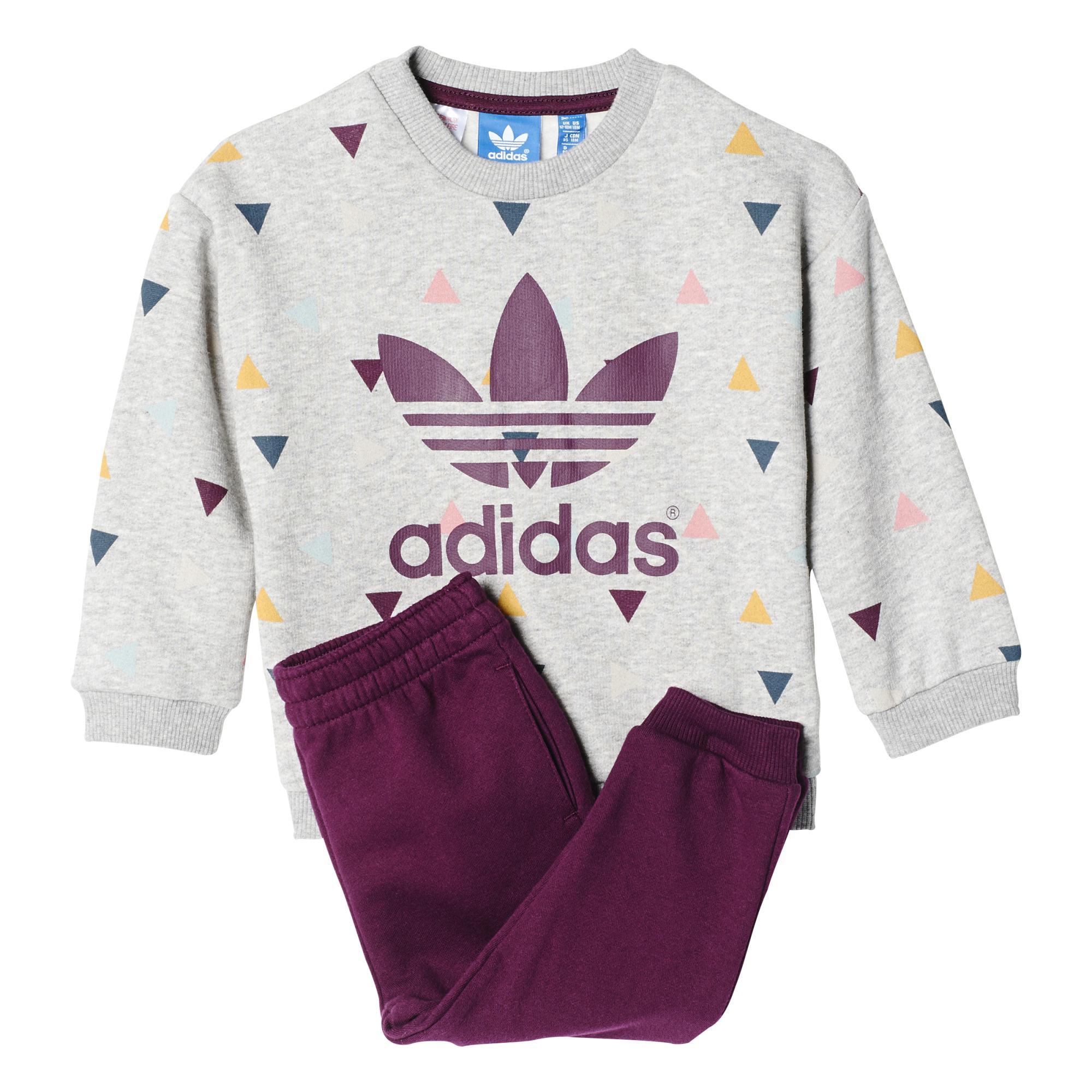 Adidas Adventure Winter Infants Originlas Chándal grisr Fleece FrUFBq