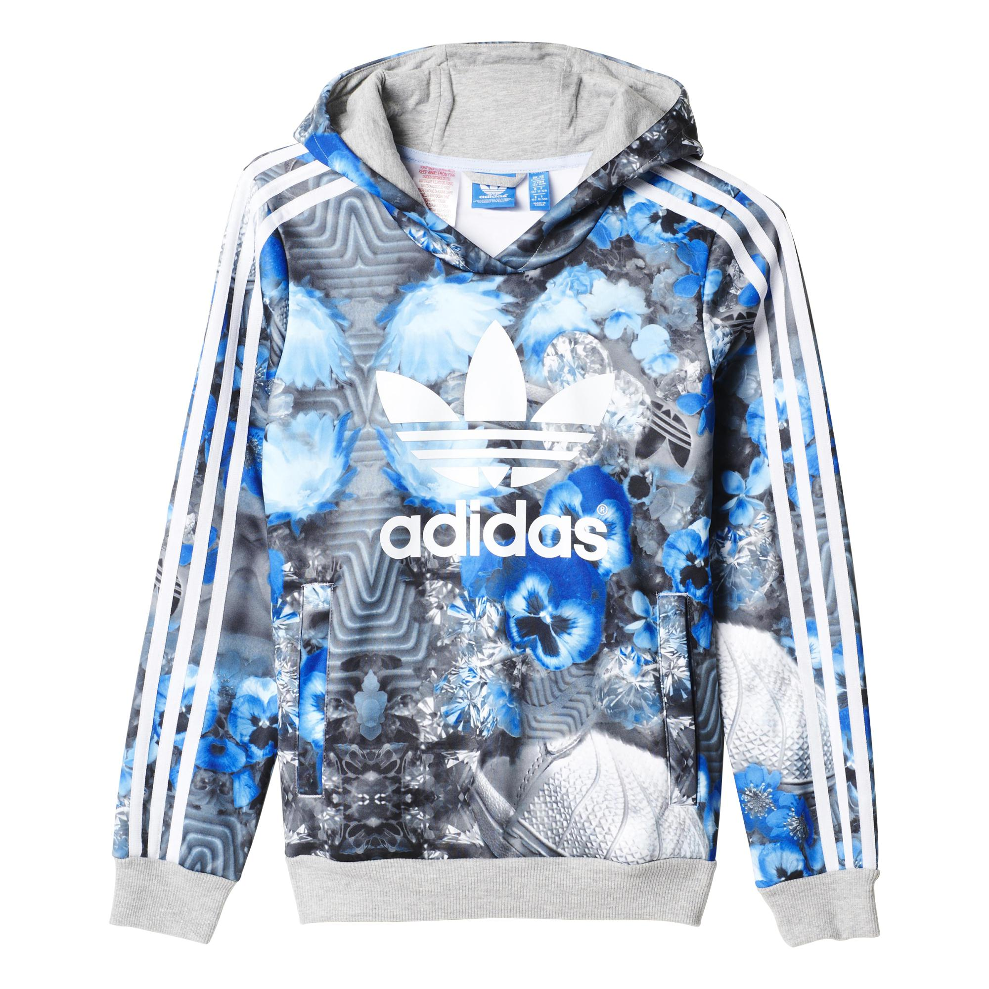 69b9d57c4fa2e5 Adidas Originals Junior Sudadera Superstar Jungle Trefoil Logo  (azul/blanco/gris)