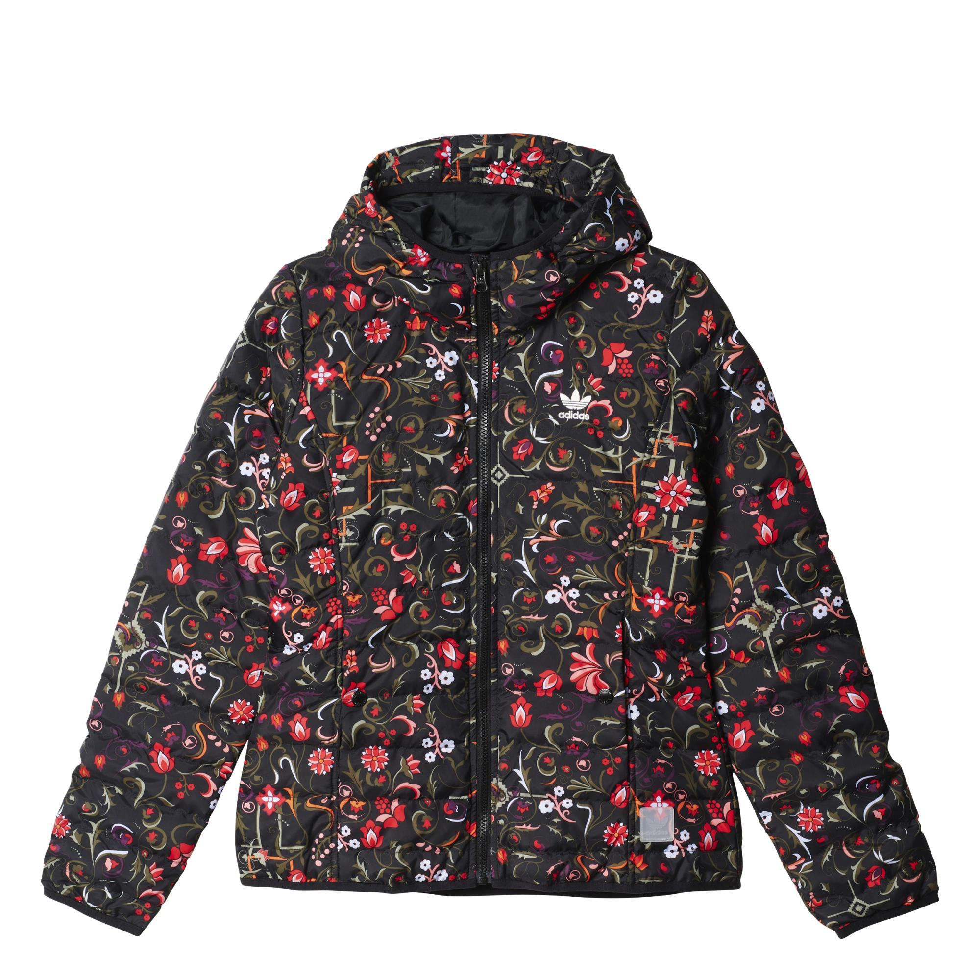1efc6fa15 Adidas Originals Mujer Chaqueta All Over Print Slim Flower (negro)