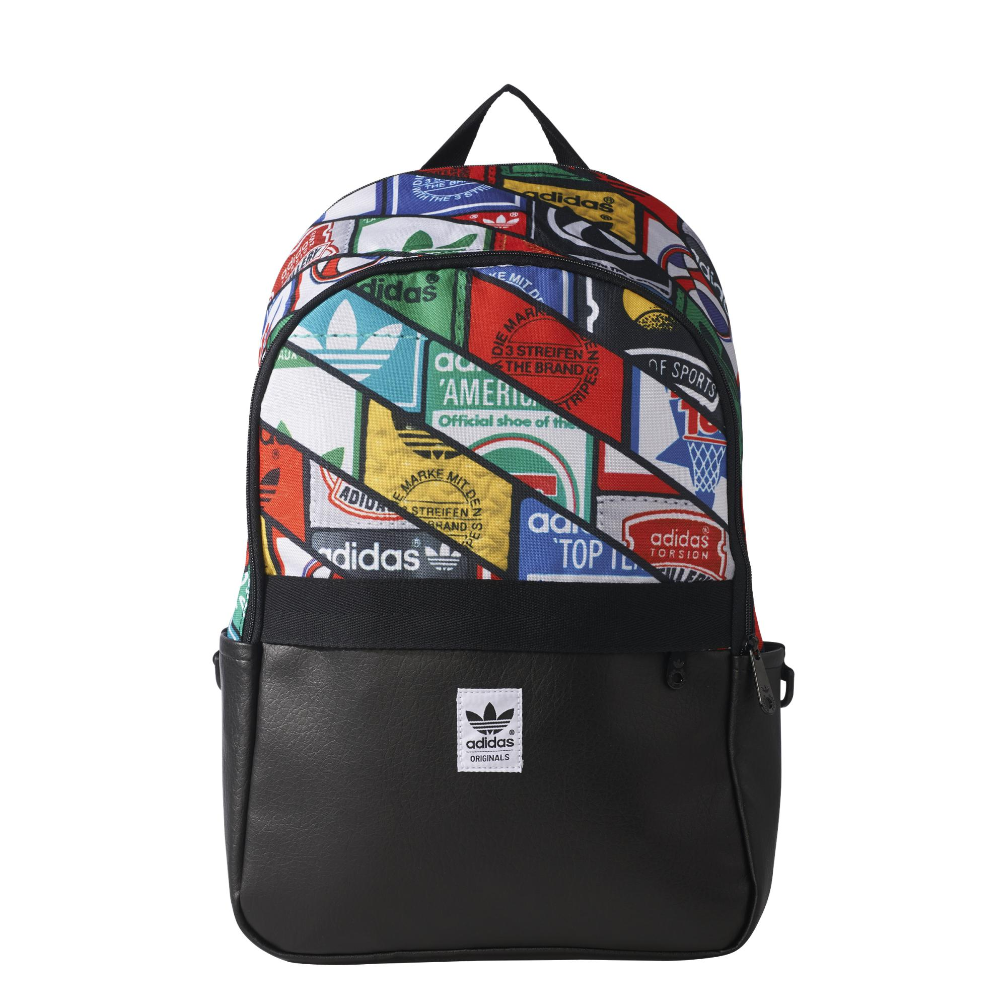 b3e368e5cb Adidas Originals Mochila Graphic Labels Tongue (negro multicolor)