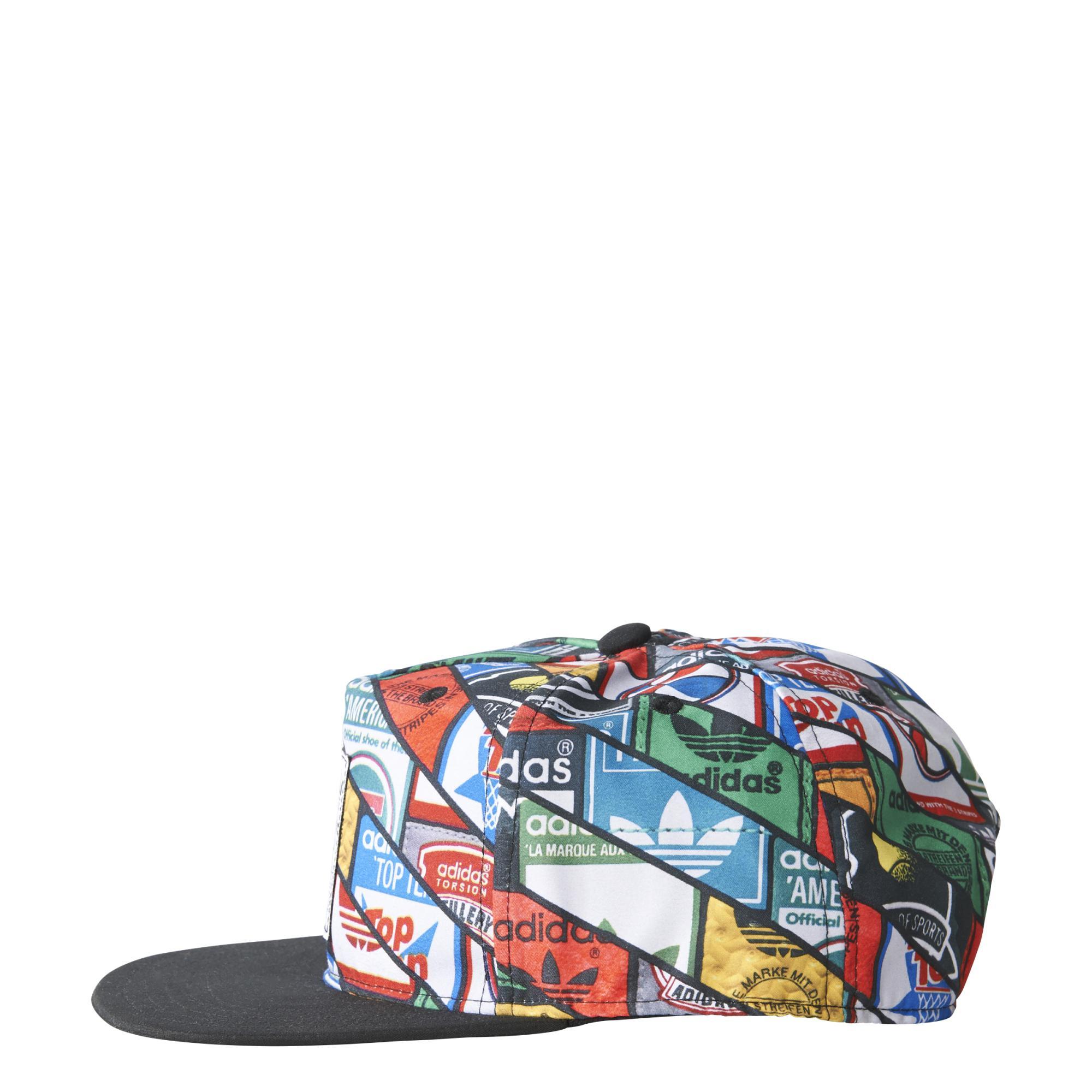 ... Adidas Originals Gorra Graphic Tongue Labels Snap-Back (negro multicolor) 878531b944a
