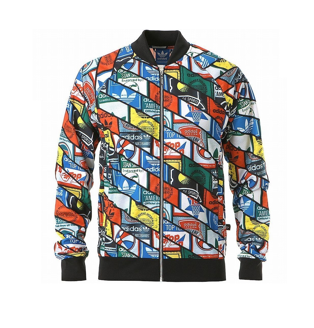 chaqueta multicolor adidas