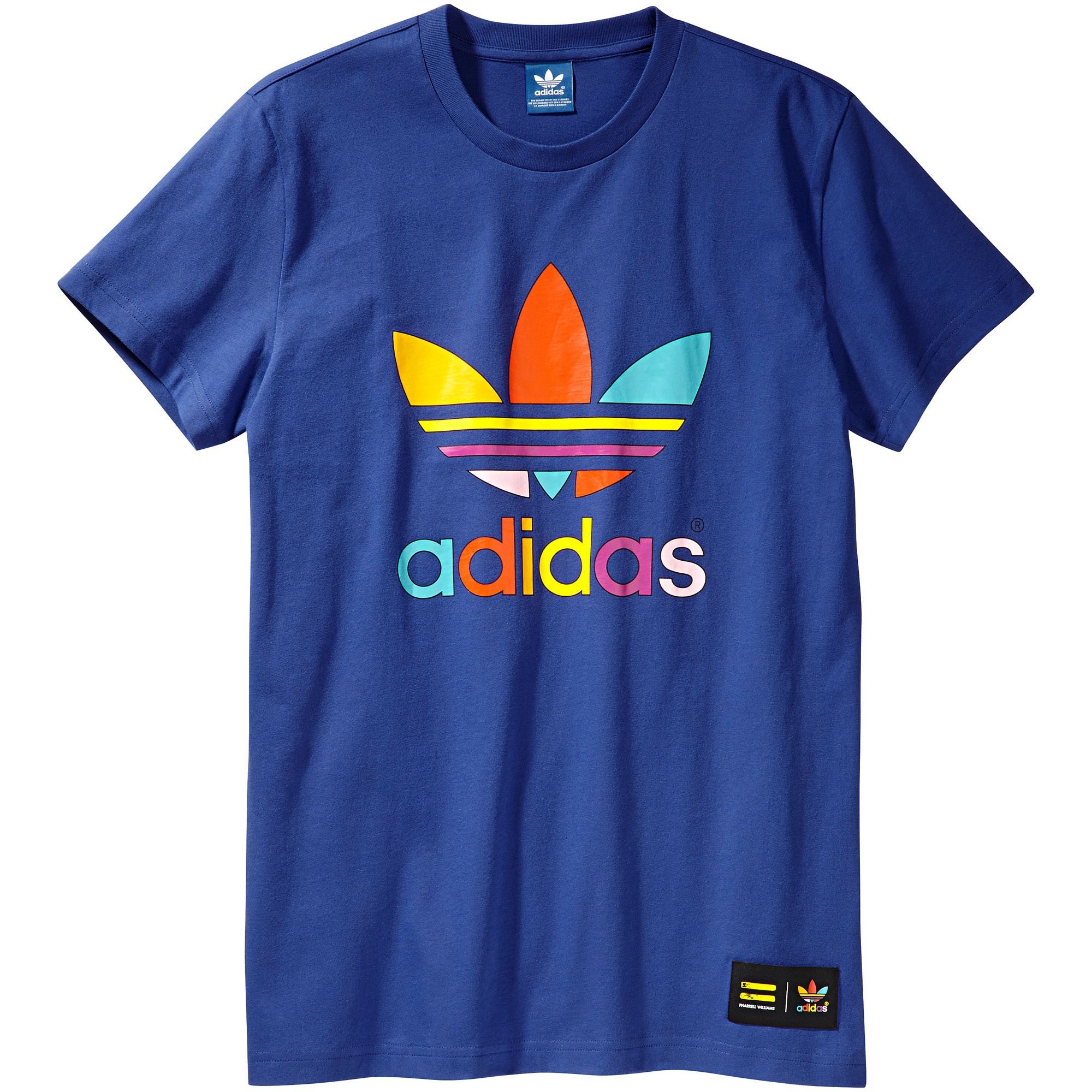 Trefoil Mono Color Adidas Originals Camiseta Pharrellazul bf76gy