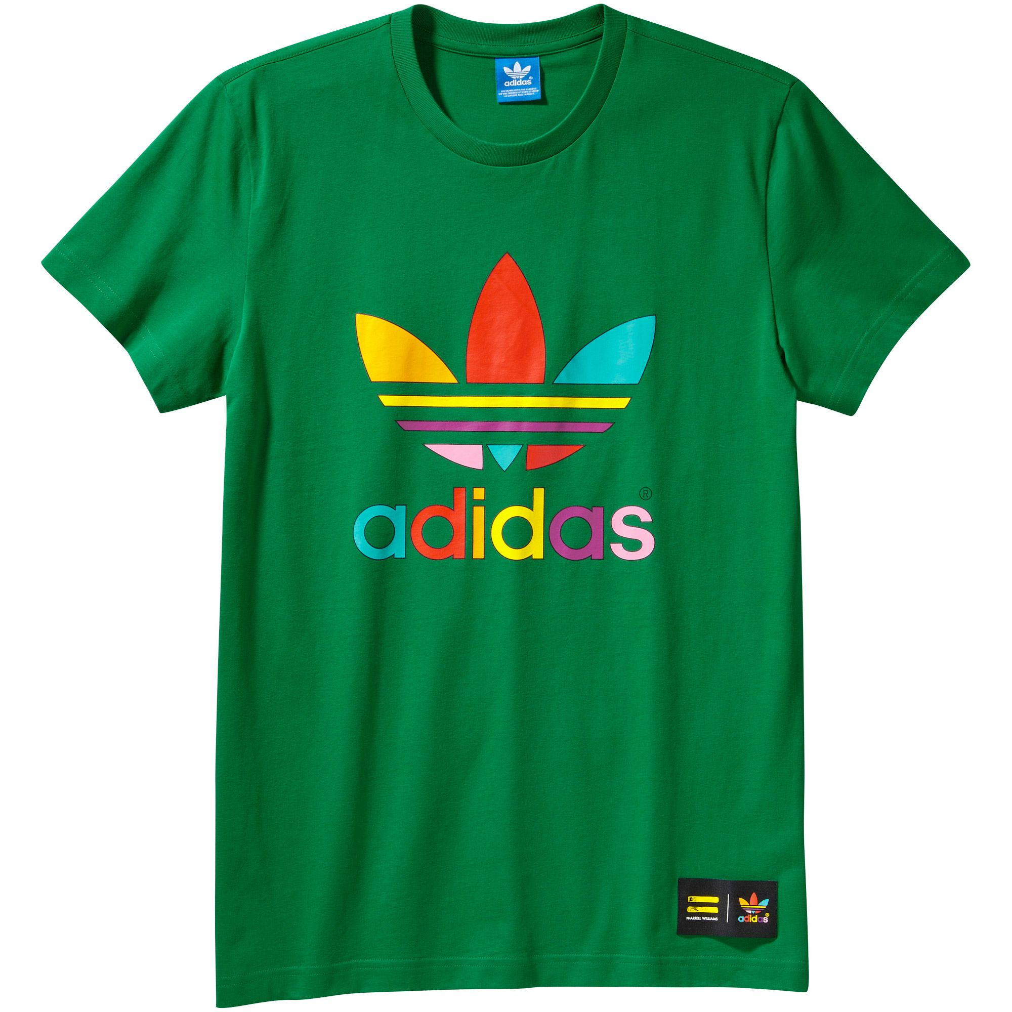 camiseta adidas originals verde
