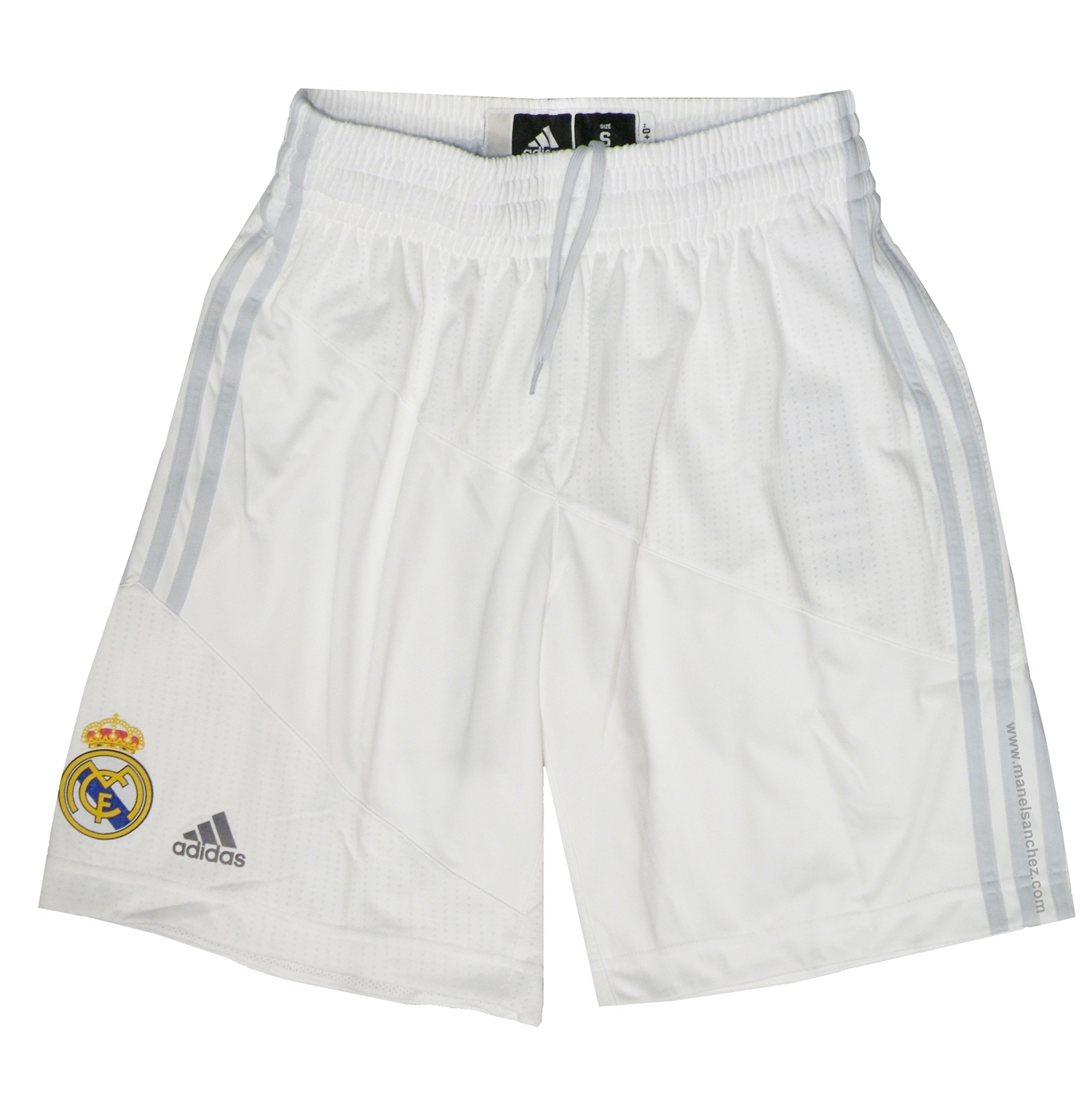 05ceb36c Adidas Short Real Madrid Baloncesto 2015-2016 (blanco/gris onix)
