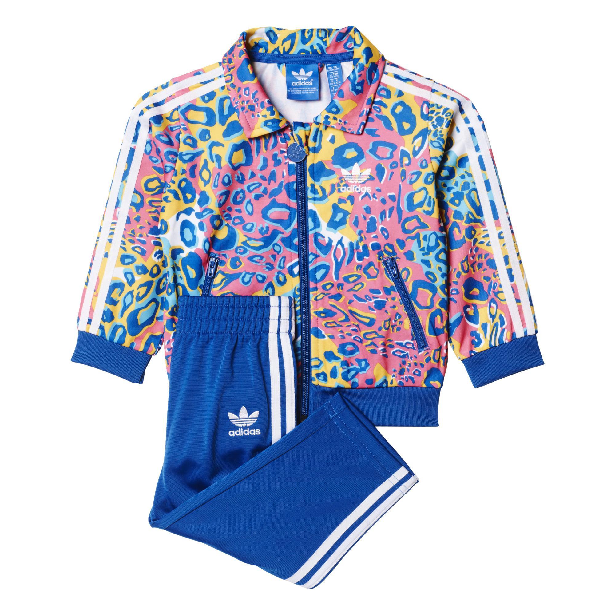 5766c5079 Adidas Originals Chándal Bebé Soccer Leopard Cub Firebird (azul/multicolor)