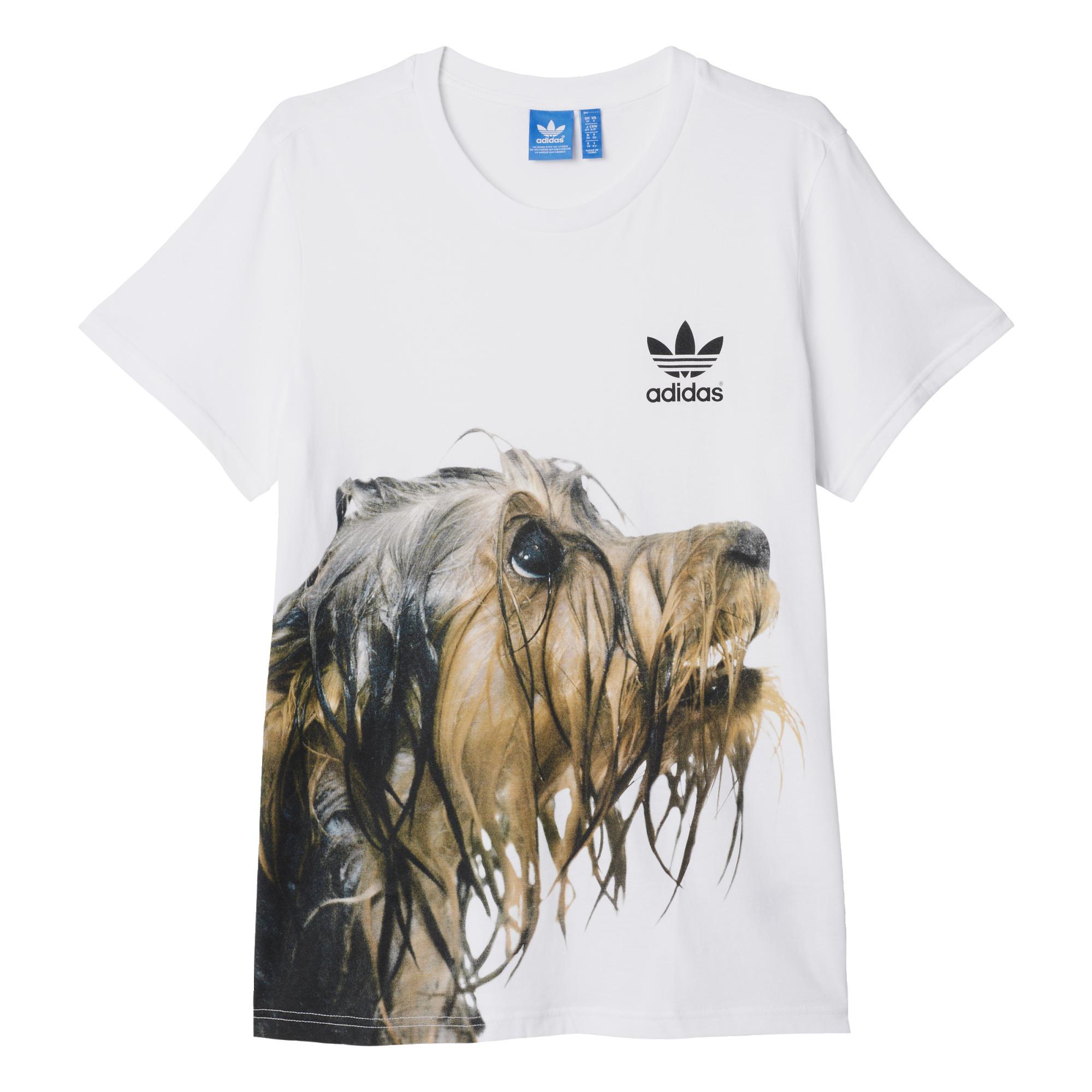 quality design 8b29a 97ae2 Adidas Originals Mujer Camiseta Puppy Pooch Rita Ora (blanco)