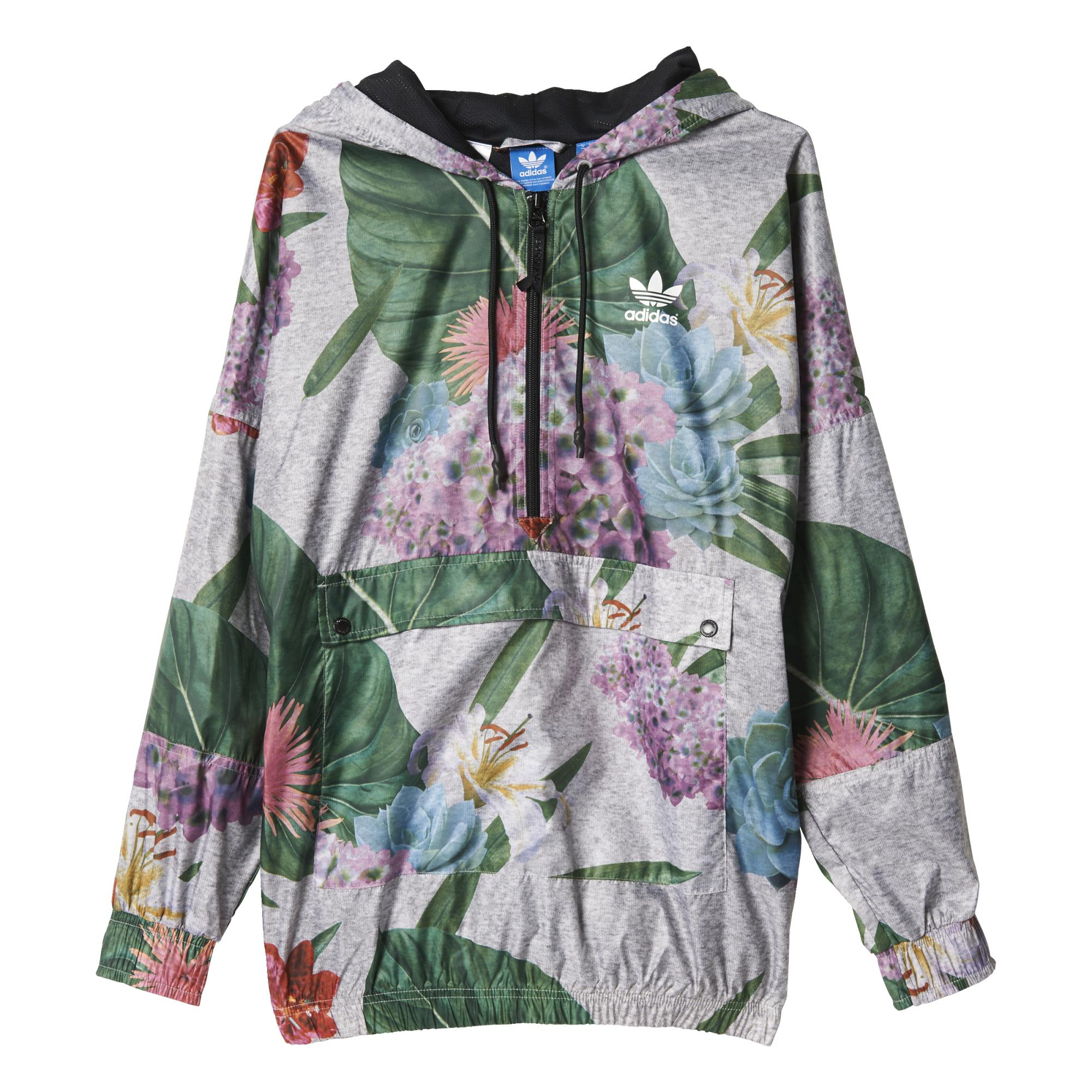 incidente tono Ten confianza  Adidas Originals Mujer Train Floral Jacket (gris/multicolor)