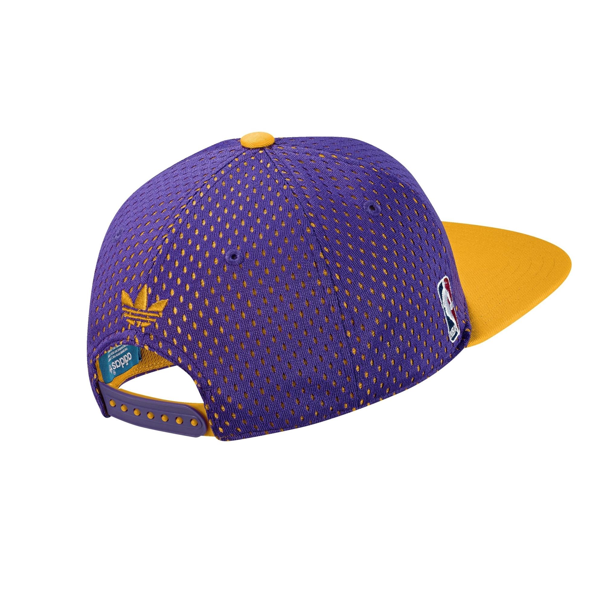 Mujer Pionero Regeneración  Adidas Originals Gorra L.A Lakers Cap Snapback (purpura/amarillo