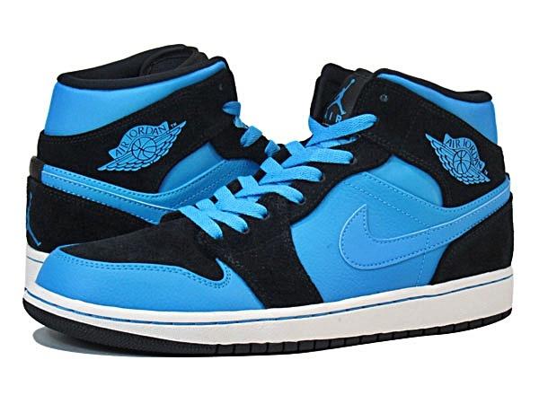 jordan 1 azul con negro