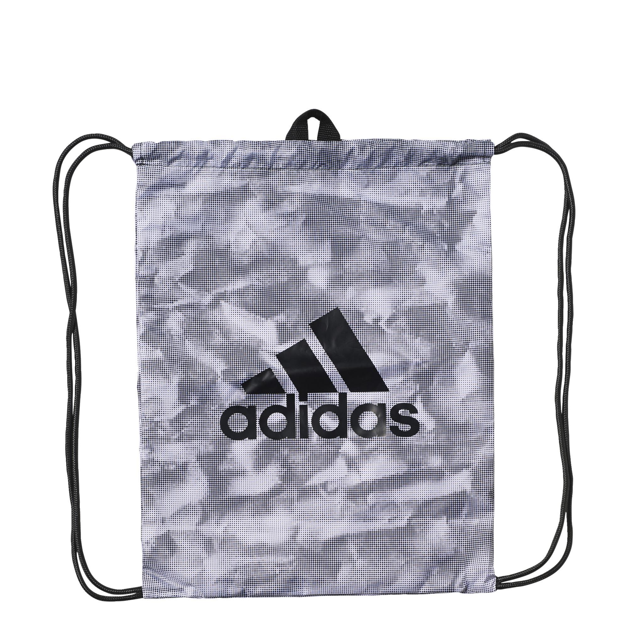 7b46220e1c96 Adidas Paper Graphic Gym Bag Training (blanco negro gris)